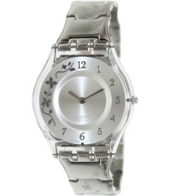 Swatch Women's Skin SFK300G Silver Stainless-Steel Quartz Watch