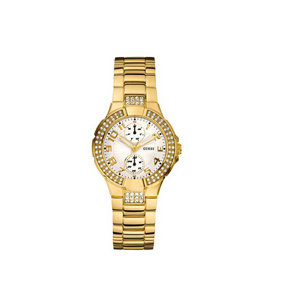 Guess Women's U13002L1 White Gold Tone Stainles-Steel Quartz Watch