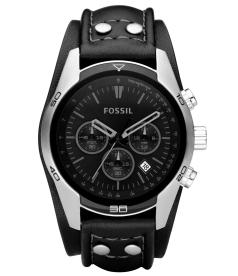 Fossil Men's CH2586 Grey Leather Analog Quartz Watch