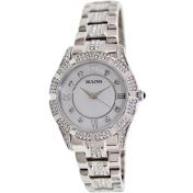 Bulova Women's 96L116 Mother-Of-Pearl Stainless-Steel Quartz Watch
