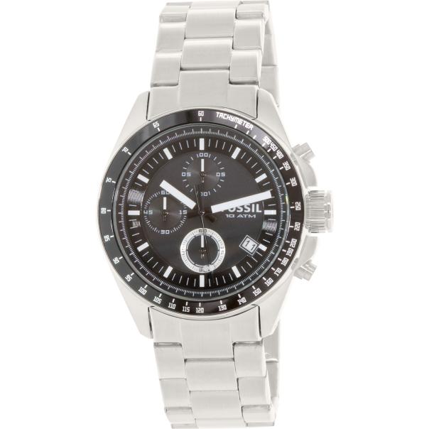 Fossil Men's Decker CH2600 Silver Stainless-Steel Analog Quartz Watch