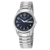 Timex Men's Elevated Classics T2M933 Blue Stainless-Steel Quartz Watch