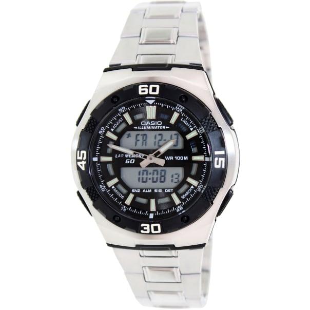 Casio Men's Core AQ164WD-1AV Silver Stainless-Steel Analog Quartz Watch
