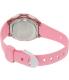 Casio Women's Core LW200-4BV Pink Resin Quartz Watch - Back Image Swatch
