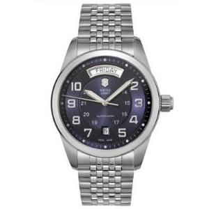 Victorinox Swiss Army Men's AMBASSADOR 241072 Blue Stainless-Steel Swiss Automatic Watch