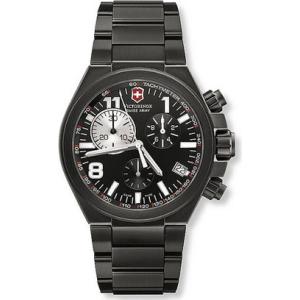 Victorinox Swiss Army Men's CONVOY 241255 Black Titanium Swiss Quartz Watch