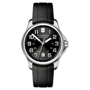 Victorinox Swiss Army Men's OFFICER'S 241357 Black Rubber Swiss Quartz Watch