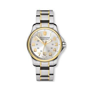 Victorinox Swiss Army Men's OFFICER'S 241362 White Stainless-Steel Swiss Quartz Watch