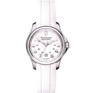 Victorinox Swiss Army Women's OFFICER'S 241366 White Rubber Quartz Watch