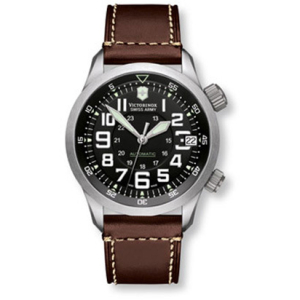 Victorinox Swiss Army Men's PROFESSIONAL AIRBOSS 241378 Brown Leather Swiss Quartz Watch