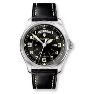 Victorinox Swiss Army Men's INFANTRY 241397 Black Leather Swiss Automatic Watch