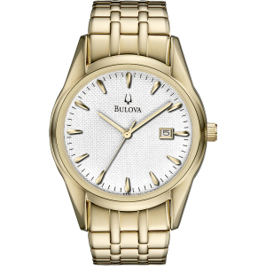 Bulova Men's 97B109 White Stainless-Steel Quartz Watch