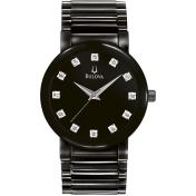 Bulova Men's 98D001 Black Stainless-Steel Quartz Watch