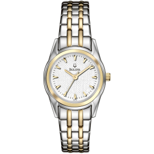 Bulova Women's 98L138 White Stainless-Steel Quartz Watch