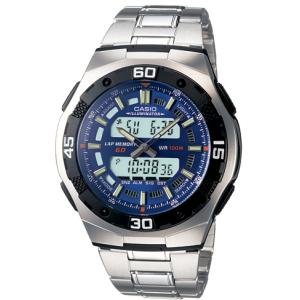 Casio Men's AQ164WD-2AV Blue Stainless-Steel Quartz Watch