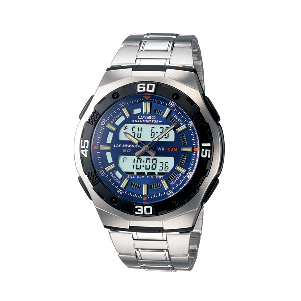 Casio Men's AQ164WD-2AV Blue Stainless-Steel Quartz Watch