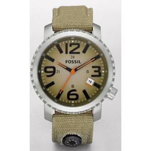 Fossil Men's Trend JR1139 Brown Nylon Analog Quartz Watch
