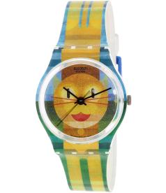 Swatch Women's LIFESTYLE FOR HER GE231 Orange Plastic Swiss Quartz Watch
