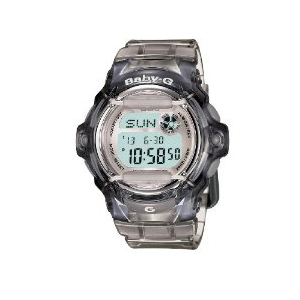 Casio Women's BG169R-8 Black Resin Quartz Watch