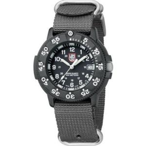 Luminox Men's Original Navy Seal Dive 3001.NATO.GRY Black Polyurethane Quartz Watch
