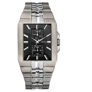 Guess Men's U11531G4 Black Stainless-Steel Quartz Watch