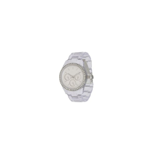 Fossil Women's Dress ES2608 Silver Plastic Analog Quartz Watch