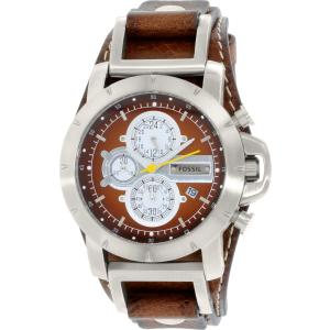Fossil Men's Jake JR1157 Brown Leather Analog Quartz Watch