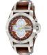 Fossil Men's Jake JR1157 Brown Leather Analog Quartz Watch - Main Image Swatch