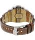 Fossil Men's Jake JR1157 Brown Leather Analog Quartz Watch - Back Image Swatch