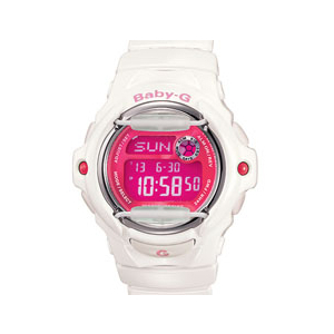 Casio Women's BG169R-7D Pink Resin Quartz Watch
