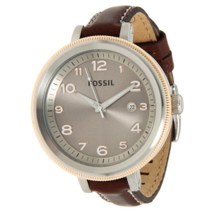 Fossil Women's Bridgette AM4304 Grey Leather Quartz Watch