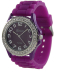 Geneva Platinum Women's 6886.PRP Purple Silicone Quartz Watch - Main Image Swatch