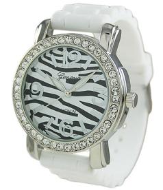 Geneva Platinum Women's 7817.WHT Silver Silicone Quartz Watch