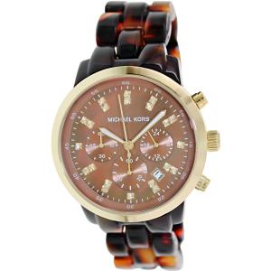 Michael Kors Women's Ritz MK5216 Brown Plastic Quartz Watch