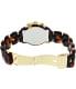 Michael Kors Women's Ritz MK5216 Brown Plastic Quartz Watch - Back Image Swatch