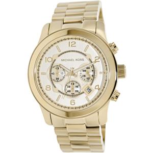 Michael Kors Men's Runway MK8077 Gold Stainless-Steel Quartz Watch