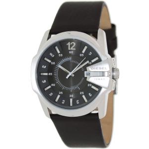 Diesel Men's Master Chief DZ1206 Black Leather Analog Quartz Watch