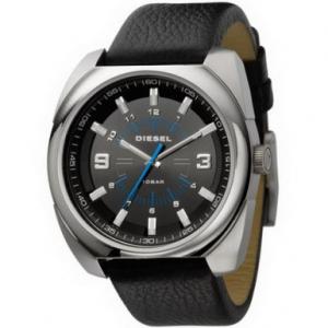 Diesel Men's DZ1247 Black Leather Quartz Watch