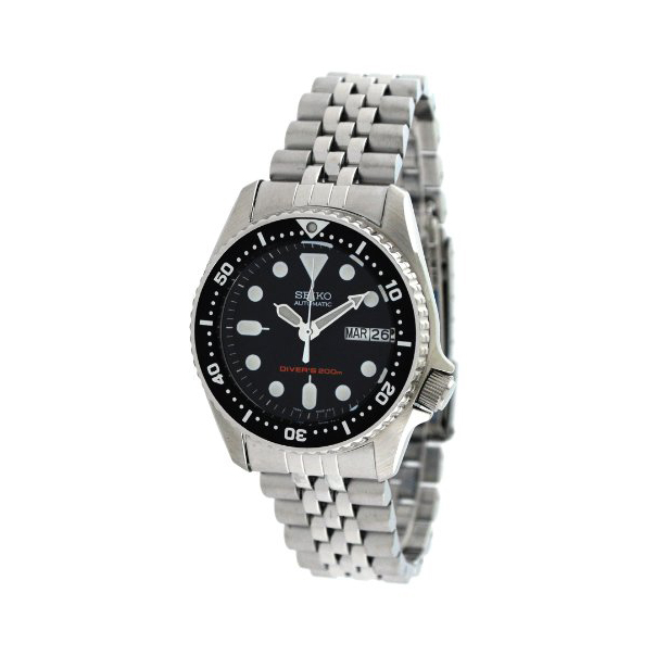 Seiko Men's Automatic Diver SKX013K2 Black Stainless-Steel Automatic Watch