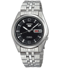 Seiko Men's 5 Automatic SNK393K Black Stainless-Steel Automatic Watch