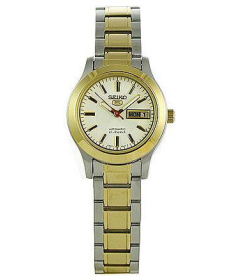 Seiko Women's 5 Automatic SYMD90K White Two-tone Stainless-Steel Automatic Watch