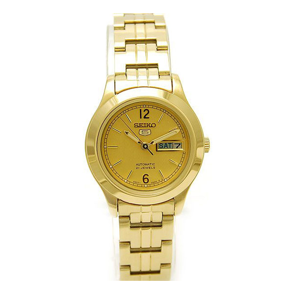 Seiko Women's 5 Automatic SYME02K Gold Gold Tone Automatic Watch