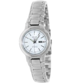 Seiko Women's 5 Automatic SYME39K White Stainless-Steel Automatic Watch