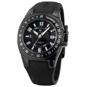 Tommy Hilfiger Men's 1790574 Black Rubber Quartz Watch