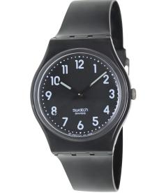 Swatch Women's Originals GB247 Black Plastic Quartz Watch