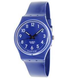 Swatch Men's Originals GN230 Blue Plastic Swiss Quartz Watch
