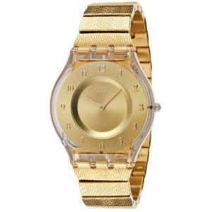 Swatch Women's Skin SFK355G Gold Stainless-Steel Swiss Quartz Watch