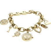 Anne Klein Women's 10-7604CHRM Gold Stainless-Steel Analog Quartz Watch