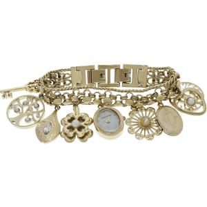 Anne Klein Women's 10-8096CHRM White Gold Tone Stainles-Steel Quartz Watch