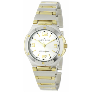 Anne Klein Women's 10-8655SVTT Silver Stainless-Steel Quartz Watch